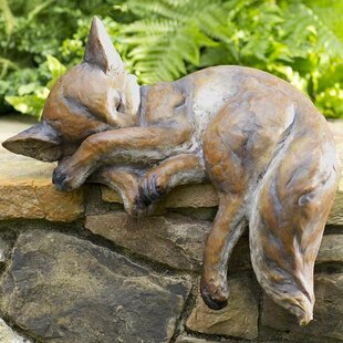 Wind & Weather Sleeping Fox Statue