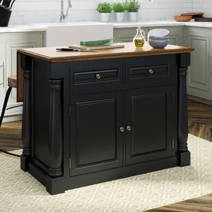 Gironde Traditional Wood Kitchen Island by Laurel Foundry Modern Farmhouse