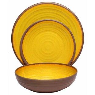 McPhillips Clay Melamine 12 Piece Dinnerware Set Service for 4  sc 1 st  Wayfair & Clay Dinnerware | Wayfair