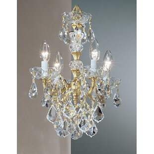 Classic Lighting Madrid Imperial 4-Light Candle Style Chandelier