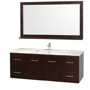 Best Reviews Centra 60 Single Espresso Bathroom Vanity Set with Mirror By Wyndham Collection