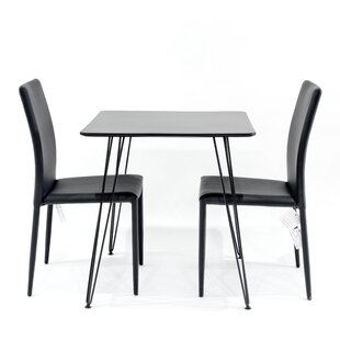 Review Maguire Dining Set With 2 Chairs