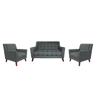 Reviews Bailes 3 Piece Living Room Set by George Oliver Reviews (2019) & Buyer's Guide
