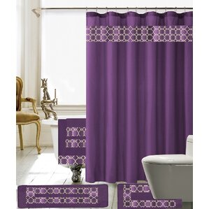 Austyn 18 Piece Embroidery Shower Curtain SetPurple Shower Curtains You ll Love   Wayfair. Purple Shower Curtain Liner. Home Design Ideas