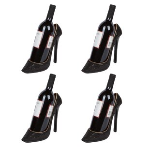 Cabral High Heel Holder 1 Bottle Tabletop Wine Rack (Set of 4)