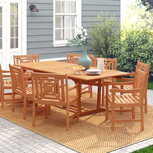 Monterry 9 Piece Solid Wood Dining Set
