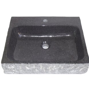 Eviva Stonie Stone Rectangular Vessel Bathroom Sink