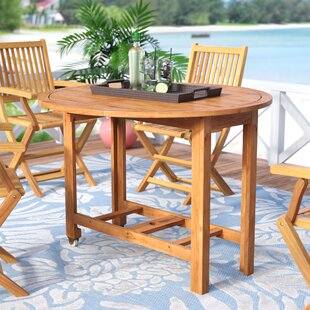 Folding Solid Wood Dining Table by Beachcrest Home