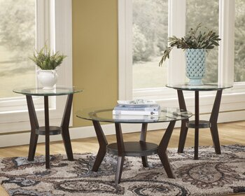 Signature Design by Ashley Curtis 3 Piece Coffee Table Set ...