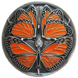Monarch Butterflies Arts and Crafts Novelty Enameled Knob