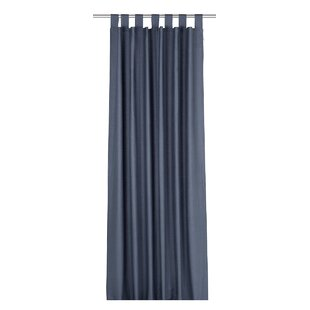 Grey Silver Tab Top Curtains
