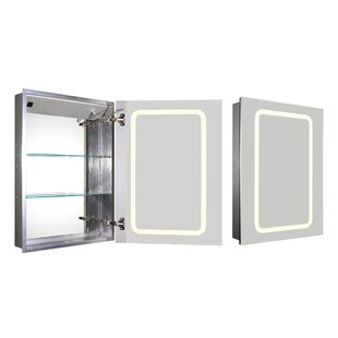 Price comparison Medicinehaus 21.63 x 29.5 Recessed Medicine Cabinet with LED Lighting ByWhitehaus Collection