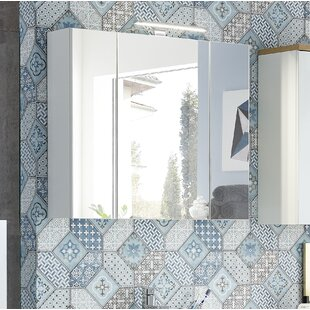 Calais 76 x 71cm Wall Mounted Mirror Cabinet by Metro Lane