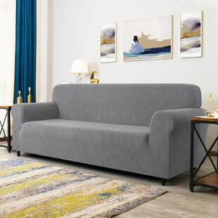 Stretch Box Cushion Sofa Slipcover By 17 Stories