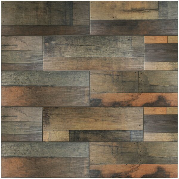 Elitetile Lena 7 88 Quot X 23 63 Quot Ceramic Wood Tile In Mix