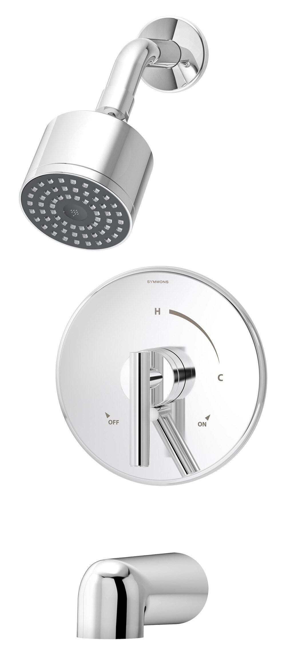 dia diverter tub and shower faucet with trim