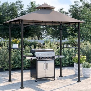 Bayamo 8 Ft. W x 5 Ft. D Steel Grill Gazebo by Sol 72 Outdoor