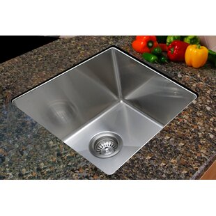 Review 17.75 x 15.375 Undermount Single Bowl Stainless Steel Kitchen Sink by Ukinox