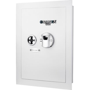 Wall Security Safe with Biometric and Key Lock by Barska