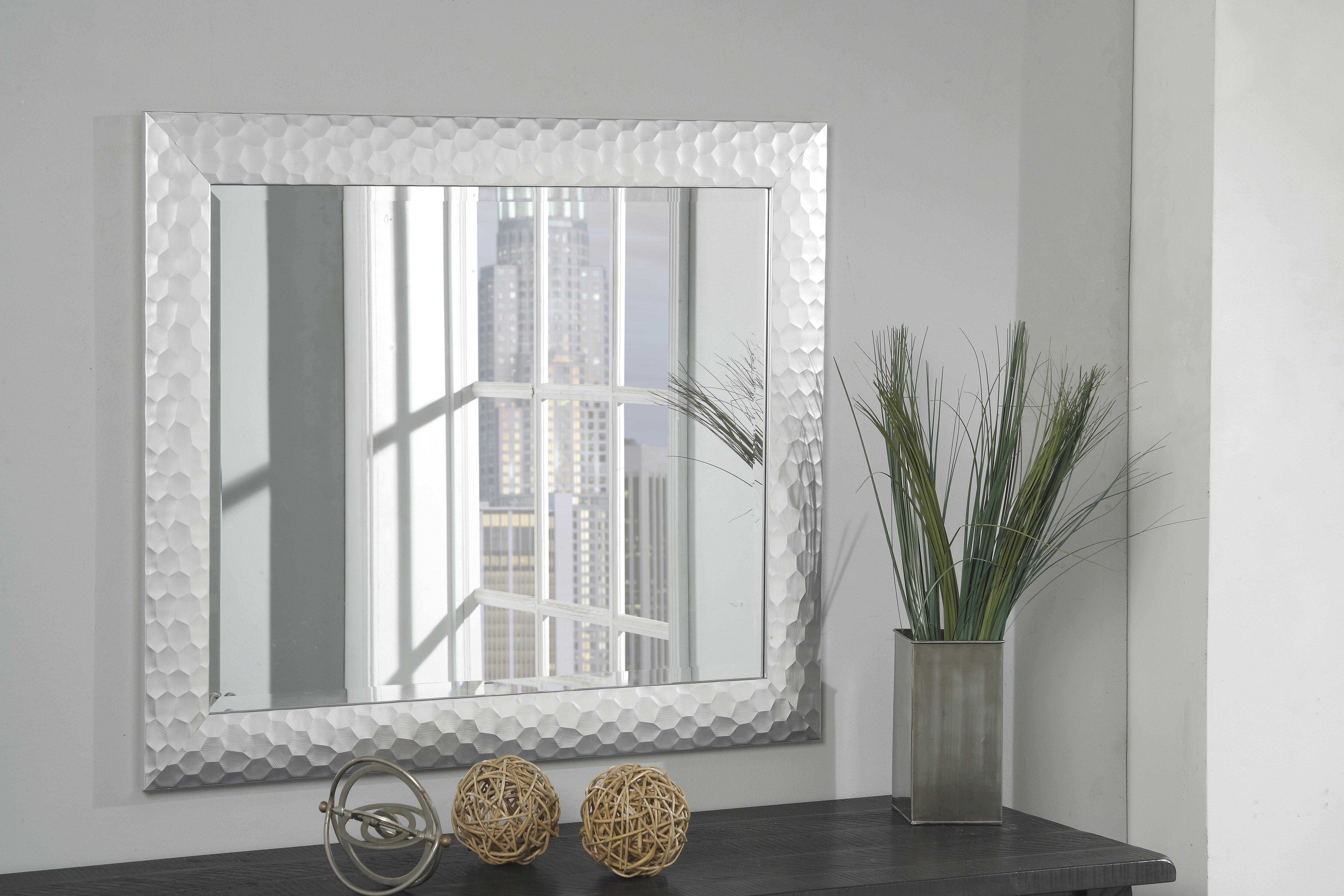 World Menagerie Widgee Modern Contemporary Beveled Wall Mirror Reviews Wayfair