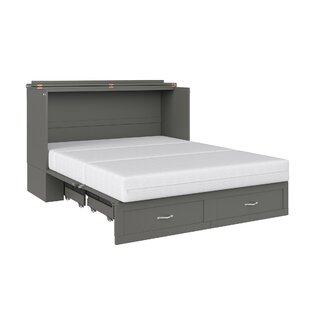 Audet Queen Storage Murphy Bed with Mattress by Canora Grey