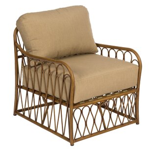 Cane Patio Chair with Cushions by Woodard
