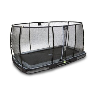 Elegant Premium Backyard In-Ground Trampoline With Safety Enclosure By Exit Toys