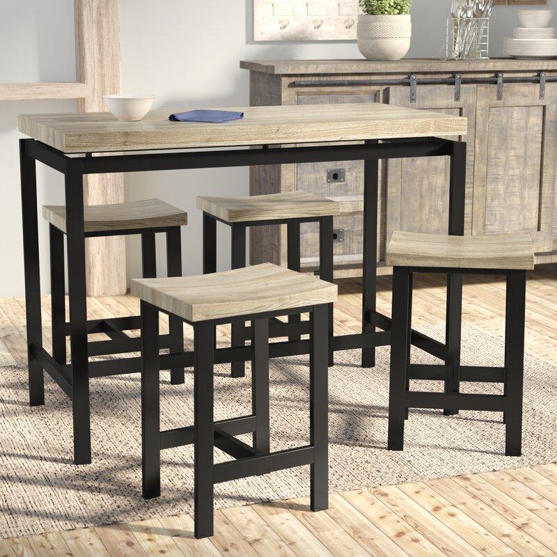 Laurel Foundry Modern Farmhouse Bourges 5 Piece Pub Table Set
