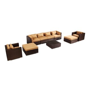 Kauai 9 Piece Sectional Set with Cushions by Kardiel