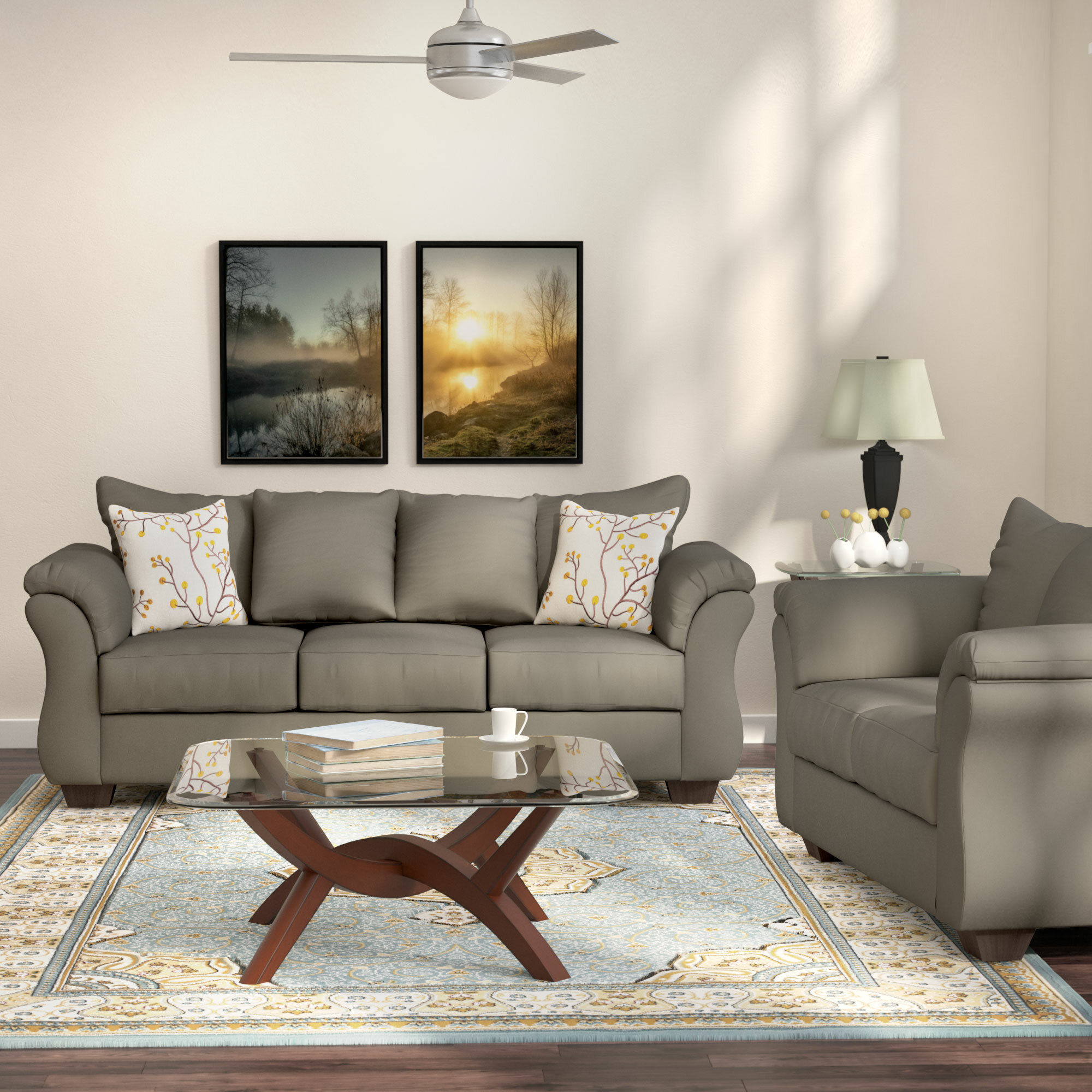 Andover Mills Chisolm 2 Piece Living Room Set & Reviews