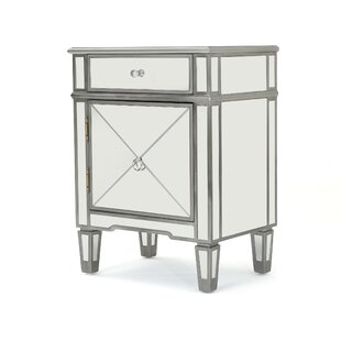 House of Hampton Terrace Mirrored 2 Drawer Cabinet
