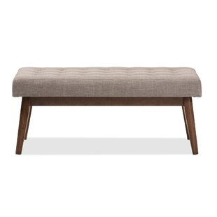 Faria Mid-Century Wood Entryway bench
