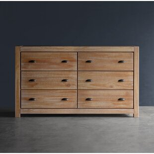 Read Reviews Montauk 6 Drawer Double Dresser by Grain Wood Furniture