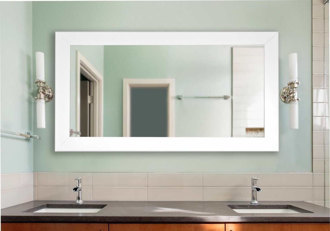 Bathroom Mirrors Double Wide rayne mirrors double wide vanity wall mirror & reviews | wayfair