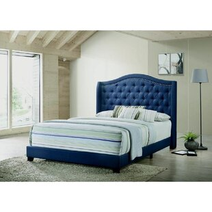 Althoff Queen Tufted Upholstered Sleigh Standard Bed by Rosdorf Park