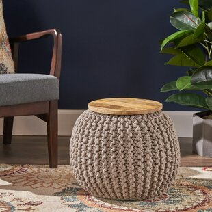 Squires Pouf by Bungalow Rose