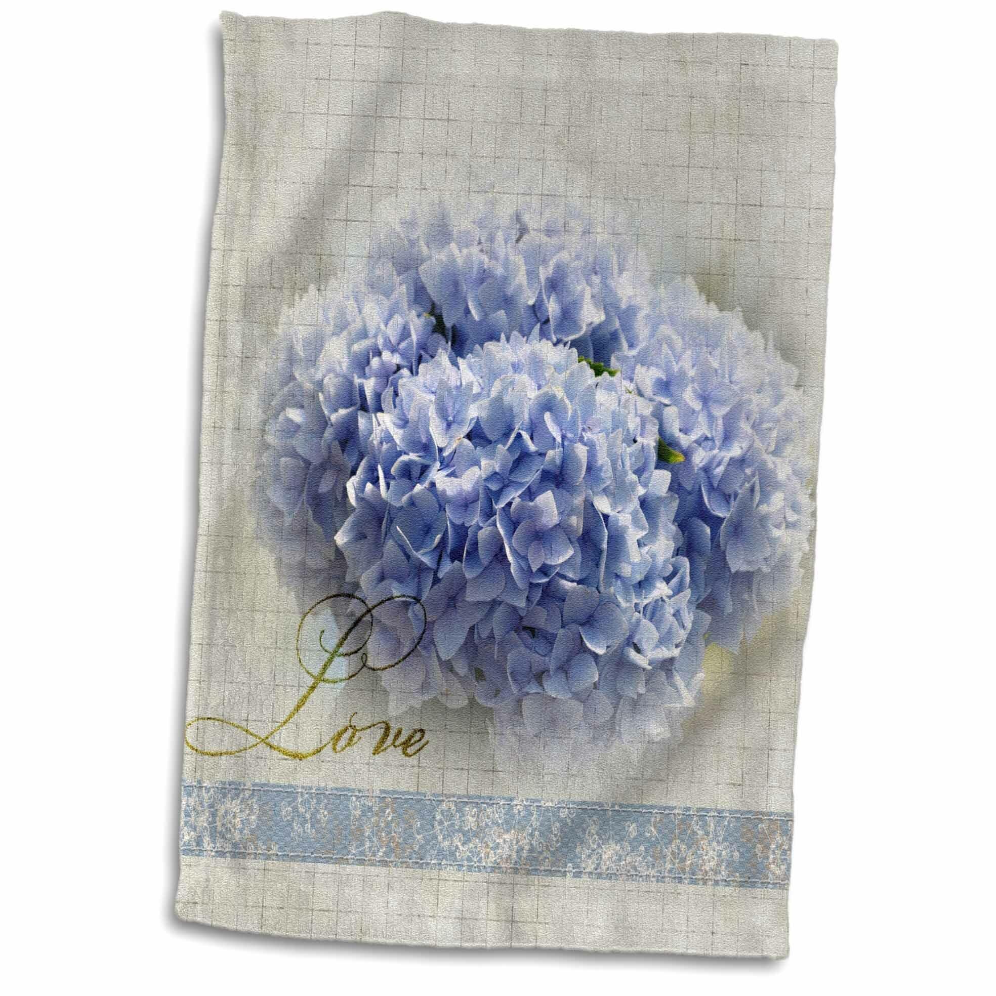 Symple Stuff Merkel Hydrangea Flowers Hand Towel Wayfair