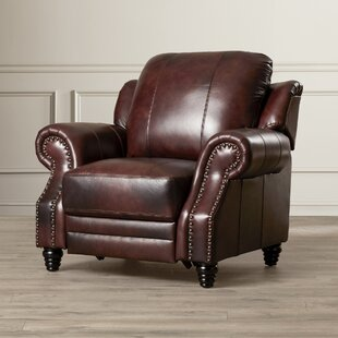 Wildon Home ® Harvard Leather Wing Recliner