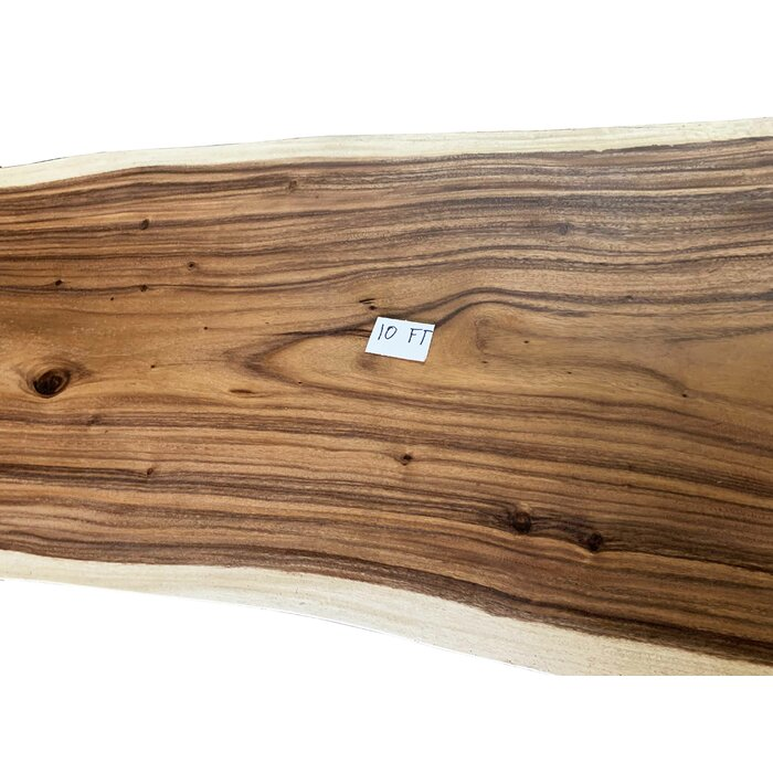 Darryl Single Piece Slab Live Edge Solid Wood Dining Table