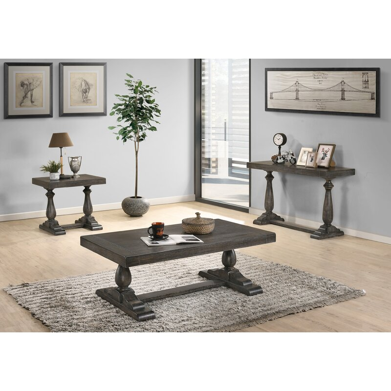 One Allium Way Elaina 3 Piece Coffee Table Set Reviews Wayfair