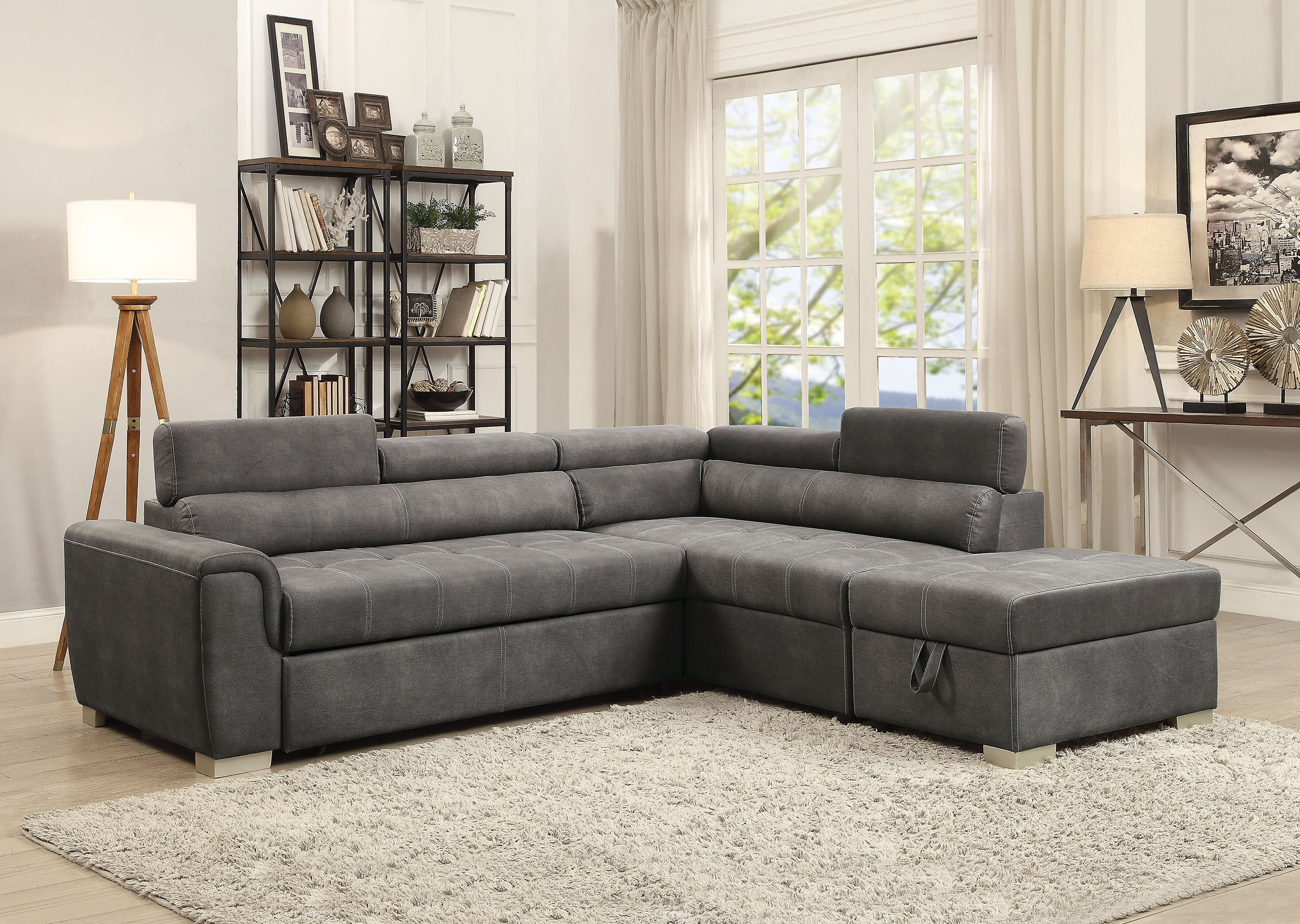 Brayden studio truesdale sleeper sectional with ottoman wayfair ca