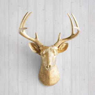 Gold Deer Head Wall Decor | Wayfair