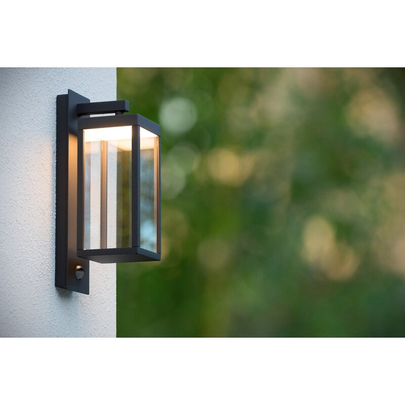 Lucide Clairette Led Outdoor Wall Lantern With Motion Sensor Reviews Wayfair Co Uk