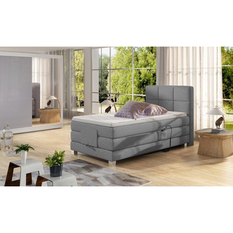 Ebern Designs Achol King Upholstered Storage Standard Bed With Mattress Wayfair