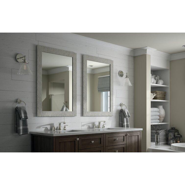 Delta Rectangular Standard Flush Mount Framed Glass Bathroom Vanity Mirror Wayfair