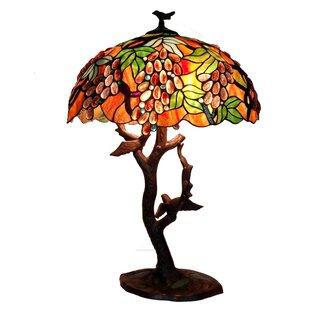 Best Grapes Birds Mosaic 30 Table Lamp By Warehouse of Tiffany