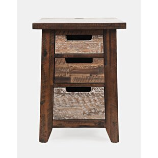 Heritage Hill End Table with Storage by Loon Peak