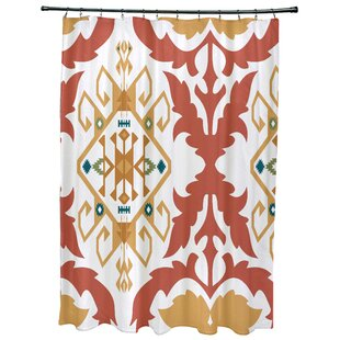 Meetinghouse Bombay Medallion Geometric Print Single Shower Curtain