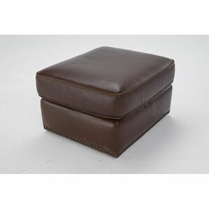 Vincenzo Leather Ottoman by Natuzzi Editions