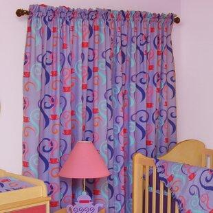 Little Girl Tea SetRod Pocket Curtain Panels (Set Of 2)
